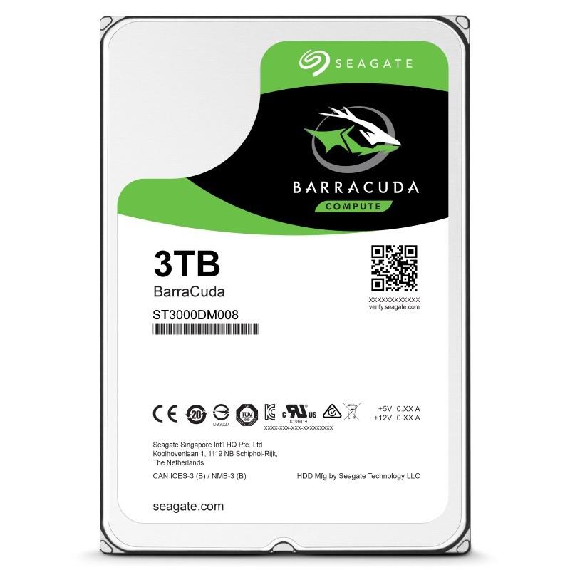 Seagate BarraCuda 3TB 7200RPM SATA 6Gb/s 64MB Cache HDD - OEM(ST3000DM008 ) - £69.99 @ Ebuyer FREE P&P