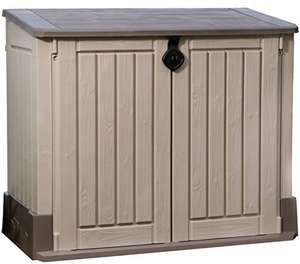 Keter Store It Out Midi Outdoor Plastic Garden Storage Shed, 130 x 74 x 110 cm - Beige/Brown Black Friday deals in Garden now on* - £75 @ Amazon