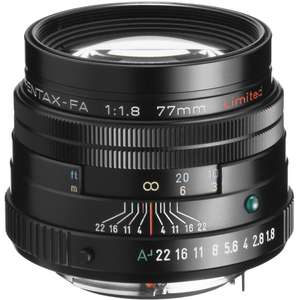 Pentax FA 77mm F1.8 Limited Lens in Black £549.00 WITH COUPON CODE PENTAX77 @ SRS Microsystems