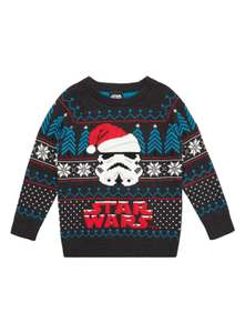 Kids Star wars Christmas Jumper From £9 Tu