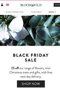 Flower delivery £5 off everything and free next day delivery online - Bloom and Wild