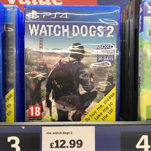 Watch Dogs 2 PS4 & Xbox One £12.99 instore @ Sainsbury's