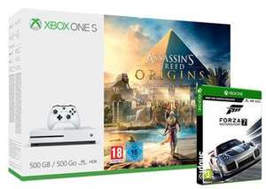 Xbox One S console with Assassins Creed Origins & Forza Motorsport 7 Plus Either Doom, Dishonored 2 or Fallout 4 - £169.85 - Shopto