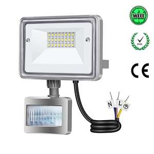 Gosun 10W Motion Sensor LED Flood Lights £9.59 with Prime || £14.34 None Prime Sold by SSligh and Fulfilled by Amazon