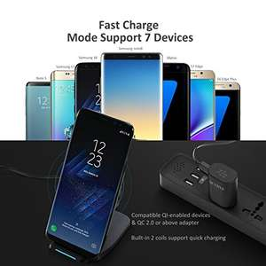 Wireless charger - Iphone - Samsung - lightning deal - Amazon - Voted Amazon Choice - £15.19 (Prime / £19.18 non Prime) - Sold by LivSense UK and Fulfilled by Amazon
