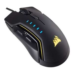 Corsair RGB GLAIVE Optical PC Gaming Mouse Black - £44.99 @ Scan