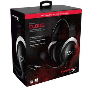 HyperX Cloud Pro Gaming Headset - Silver £39.99 @ Smyths toys