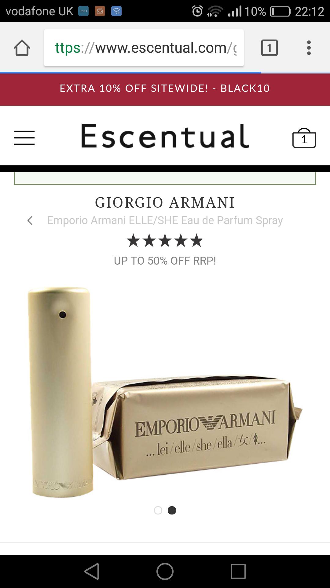 Emporio Armani She £28.95 @ Escentual