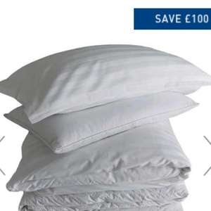 Lavis White Kingsize Bedding Set £115 @ Habitat