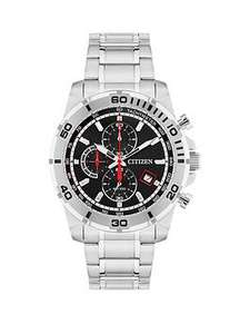 Citizen Black Dial Chronograph Stainless Steel Bracelet Mens Watch £79 @ Very