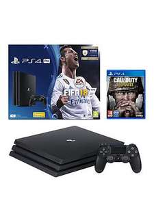 PS4 Pro 1TB Fifa Bundle with COD WWII for £273.98 delivered @ Very (Using code - first time customer)