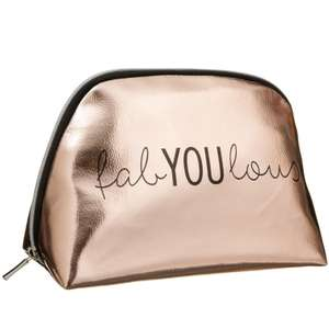 Beautiful Cosmetic Bag - Rose Gold Beautiful Cosmetic Bag - Rose Gold £3.99 (RRP £15.00) @ B&M