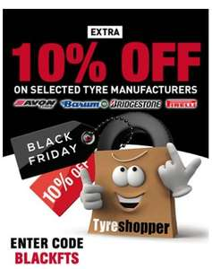 10% OFF selected tyre manufacturers @ Tyre-Shopper