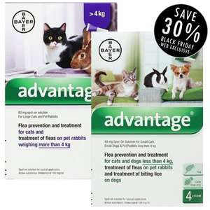 Vet-Medic - 30% Off Advantage Flea treatment £7.62 / £10.61 delivered @ Vet-medic