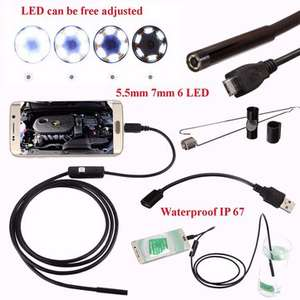 Endoscope Inspection Waterproof Camera 5.5mm Digital 5m USB For Android Phone - BangGood £5.82