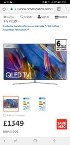 Samsung QE55Q7F 4k QLED Richer Sounds £1349