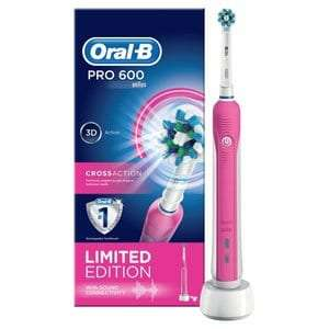 Oral B Pro 600 3D White Electric Toothbrush X2 £32.58 @ Superdrug