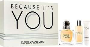 Emporio Armani Because It's You Eau de Parfum Spray 50ml Gift Set £51.25 @ Escentual