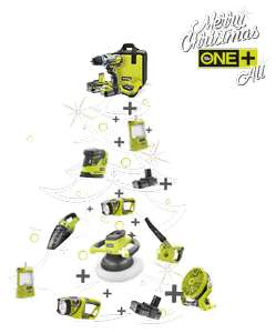 Free tool with Ryobi starter kit with £100 spend at Ryobi UK