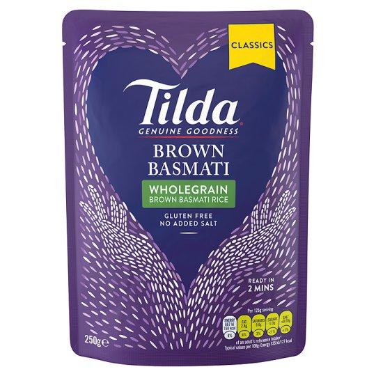 Tilda Brown Steamed Basmati Rice Classic 250G - 79p @ Tesco