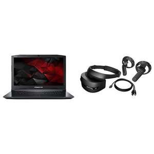 Predator Acer 17.3 (Intel Core i7-7700HQ Processor, 16 GB RAM, 1 TB HDD Plus 256 GB SSD, GTX 1060 6 GB Graphics) with HP Windows Mixed Reality Headset £1030.05 @ Amazon