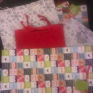 Any size Xmas gift bags 4 for £1 at the Card Factory