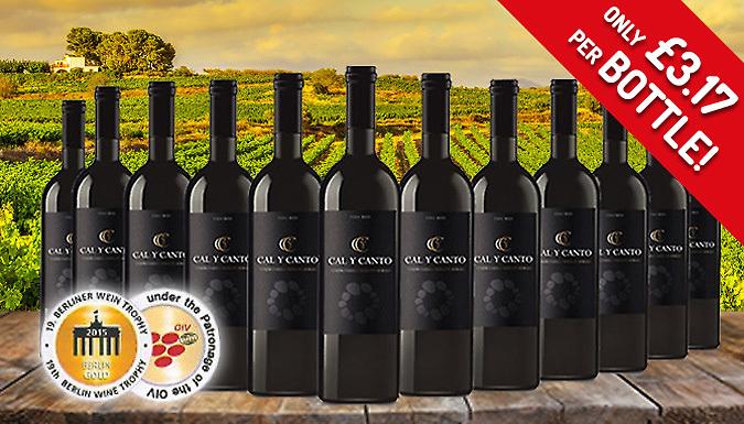 12x Bottles of award winning red wine £37.99 (£3.17 a bottle) @gogroopie