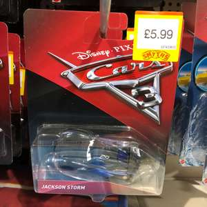 Jackson Storm Cars 3- Available at most smyths for £5.99