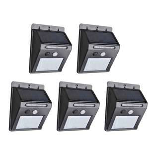 5PCS 25 LED Solar Powered Panel Motion Sensor Outdoor Garden Wall Light £23.41 Delivered with code @ Tmart