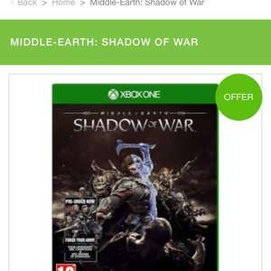 Middle earth shadow of war £25.49 delivered using bfpower 15% off quidco 4% @ Zavvi