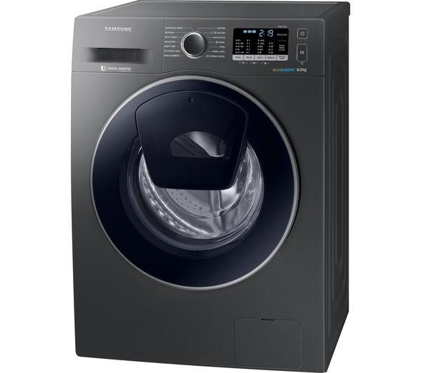 SAMSUNG AddWash WW80K5410UX Washing Machine - Graphite - £379.99 @ CURRYS PC WORLD + £20 WM20