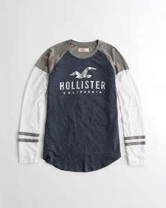 Metallic Graphic Tee - £11 Delivered @ Hollister