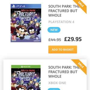 South Park - The Fractured But Whole  (PS4/Xbox One) £29.95 @ Game Collection