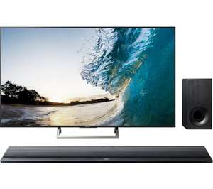 "SONY BRAVIA KD55XE8596 55"" Smart 4K Ultra HD TV & Wireless Sound Bar Bundle £899.99 @ Currys"