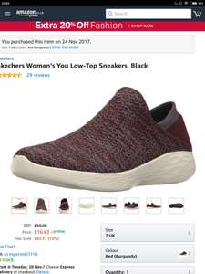 Womens you low top Sketchers sneakers. Size 7 @ Amazon. Free Prime delivery