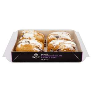 Morrisons The Best Belgian Chocolate Scone 4 pack £1 @ Morrisons