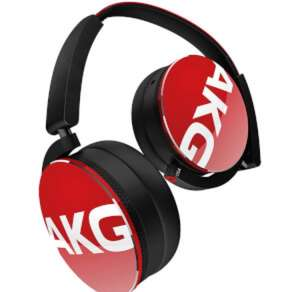 AKG Y50 Headphones in Red @ Zavvi Free Delivery £39.99