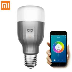 Original Xiaomi Mi Yeelight 9W RGB E27 LED Wireless WIFI Control Smart Light Lamp Bulb AC220V - £10.56 @ Banggood