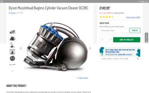 Dyson Musclehead Bagless Cylinder Vacuum Cleaner DC28C - £149.99 @ Argos