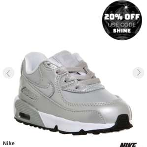 Nike Air Max 90 Td Metallic Silver WAS £49.99  NOW £20.00 (use code) @ Office Shoes