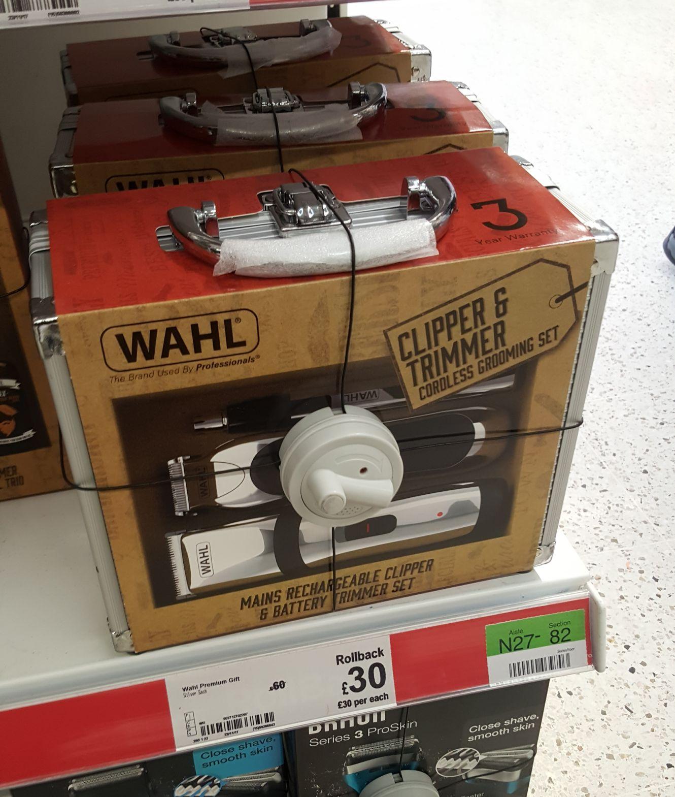 Wahl cordless grooming set was £60 now £30 at Asda