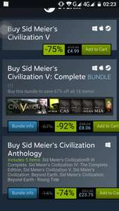 Entire Civ 5 dlc pack at Steam for £8.06