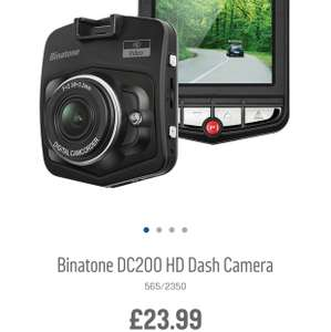Binatone Dc200 HD Dash Camera £23.99 @ Argos