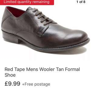 Red Tape Mens Wooler Tan Formal Shoe 100% leather £9.99 delivered by red tape direct / eBay and more mocassins and brogues <£15