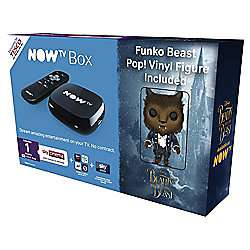Now Tv box with 1 month Sky cinema pass Sky voucher and free Beauty and the Beast Belle or Beast PoP Vinyl figure at Tesco for £20