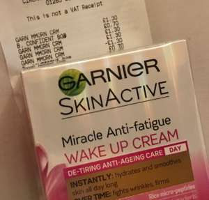 Garnier miracle anti-fatigue wake up cream scanning at £1.30 in superdrug