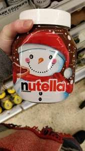 Nutella Christmas edition at Tesco for £3
