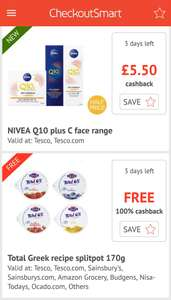 NIVEA Q10 plus C face range (3 varieties)  buy 1 get £5.50 back with Checkoutsmart