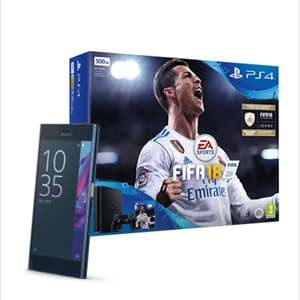 Sony XZ top end mobile plus PS4 plus FIFA 18 from £19 per month 36 months contract or £28 per month on 24 months contract.