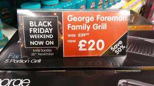 George Foreman 5 Portion Family Grill instore at B&M for £20